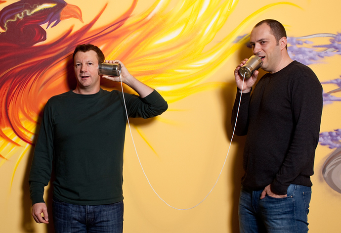 Fundadores de Whatsapp: Jan Koum y Brian Acton