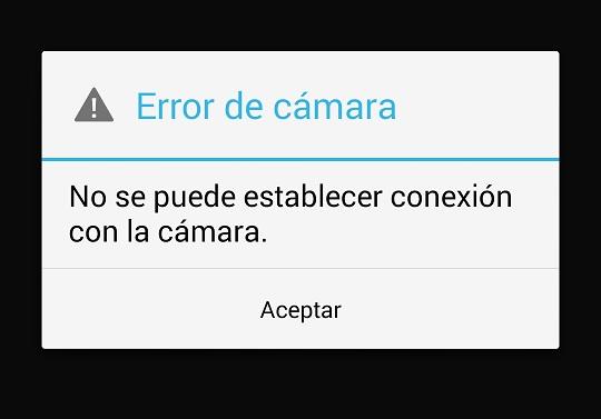 Error de cámara Nexus 5