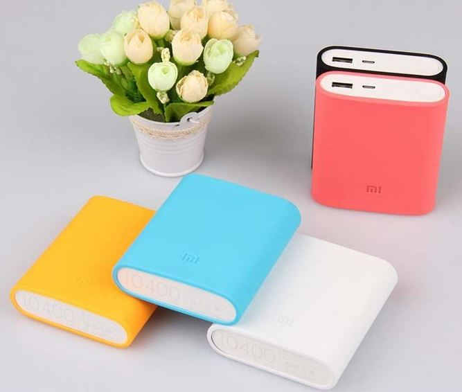 Fundas de colores para Power Bank Xiaomi 10400