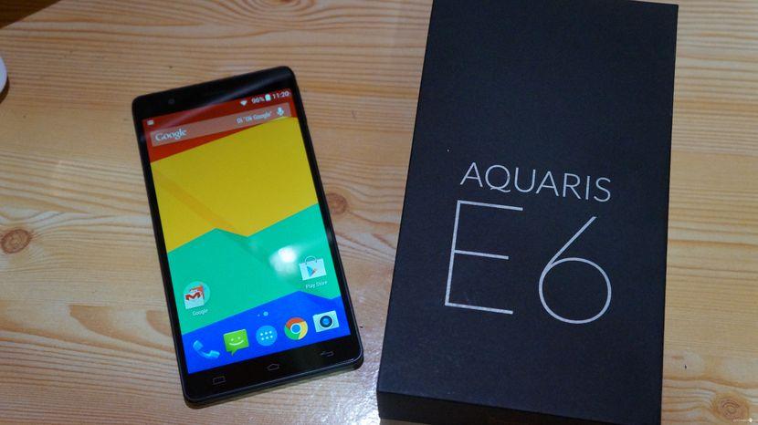 BQ Aquaris E6 caja