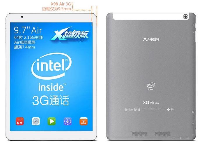 Teclast X98 Air 3G Trasera