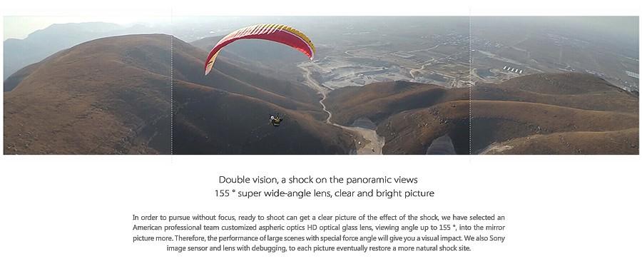 Vista panoramica Xiaomi Yi camara deportiva