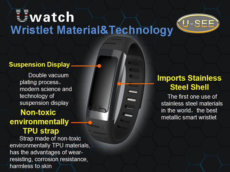 gizlogic-Uwatch U9-materiales-pulsera-inteligente-barata.