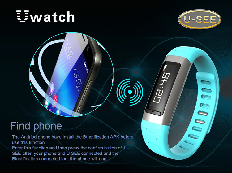 gizlogic-Uwatch u9-pulsera-inteligente-barata-funciones