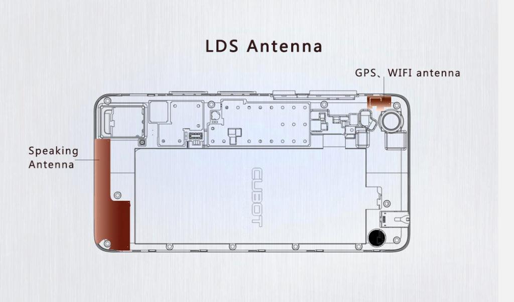 gizlogic.cubot x9.antena