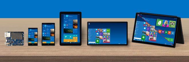 Windows 10 funcionará en una amplia gama de dispositivos