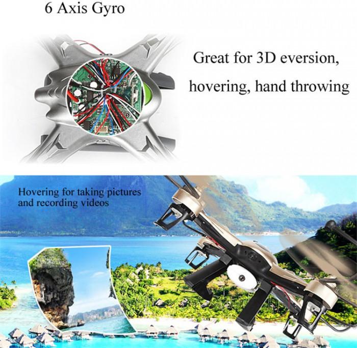 El JJRC H9D es un dron con capacidad FPV con el que podremos realizar espectaculares grabaciones aéreas.