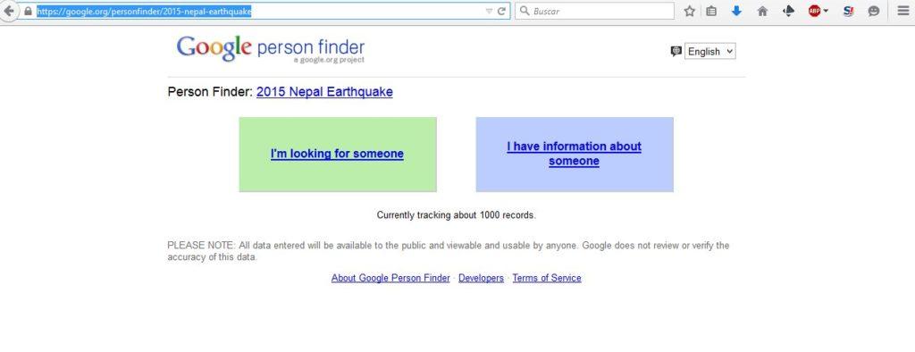 Gizlogic_person_finder_buscador de personas en Nepal_terremoto