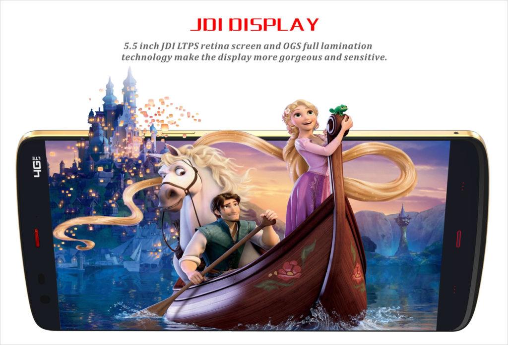 La pantalla del Kingzone Z1 utiliza la misma tecnología que la del iPhone 6