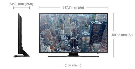 Medidas de la Samsung UE40JU6400