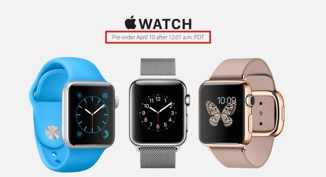 El 10 de abril comienza la pre reserva del Apple Watch en 9 países
