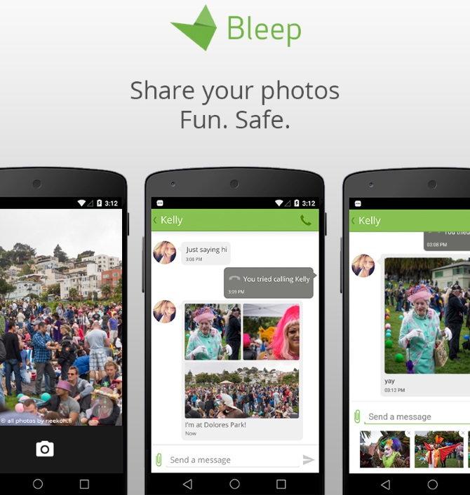 El envío y recepción de imágenes a través de la aplicación de Bleep para Android ya está disponible