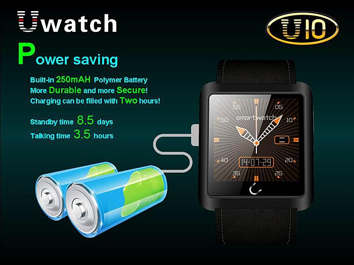 gizlogic_smartwatch u10_bateria