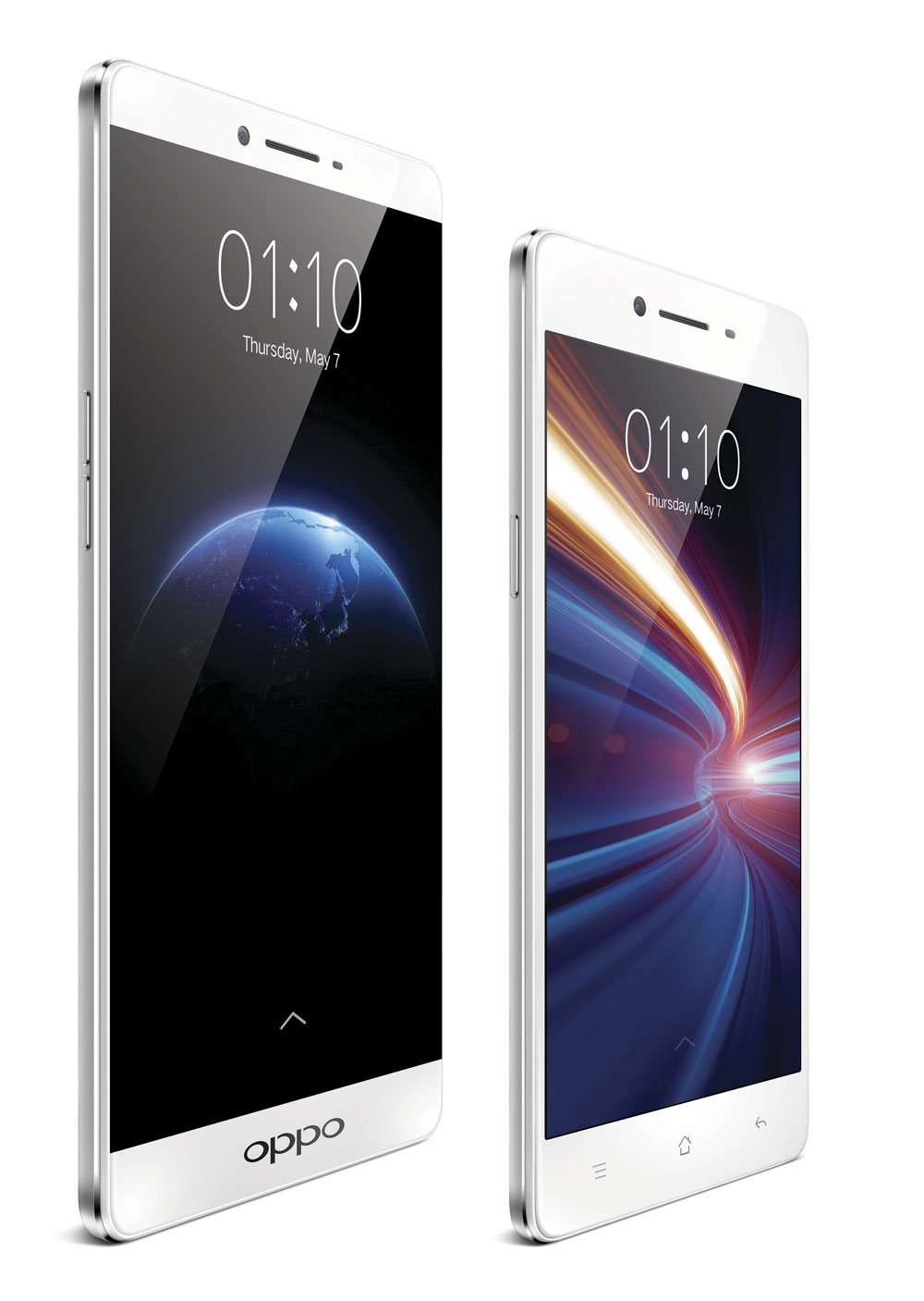 Smartphones sin marcos: Oppo R7, R7 PLus y ZTE Nubia Z9.