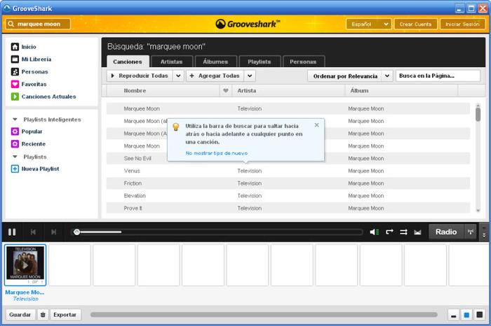 Grooveshark ofrecía soporte multidispositivo. Hoy, ya no puede utilizar en ninguna de sus plataformas