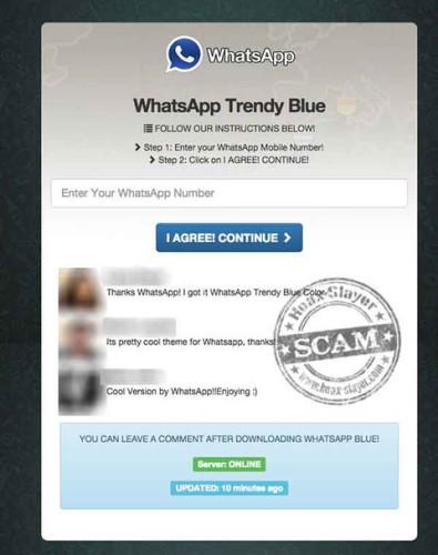 Instalar Whatsapp Blue te puede salir muy caro
