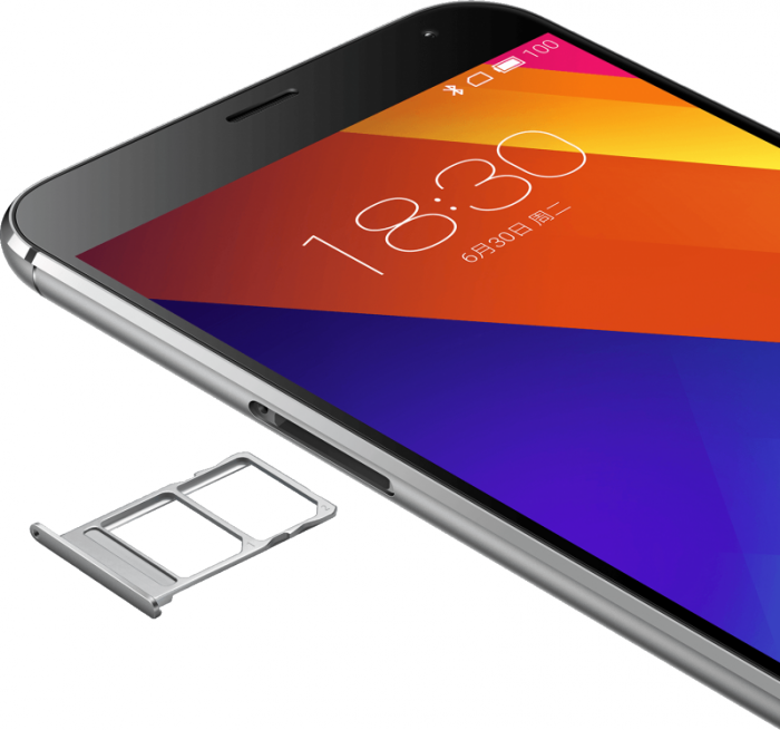 El Meizu MX5 tiene una doble ranura para instalar dos tarjetas NanoSIM, ambas con soporte 4G.