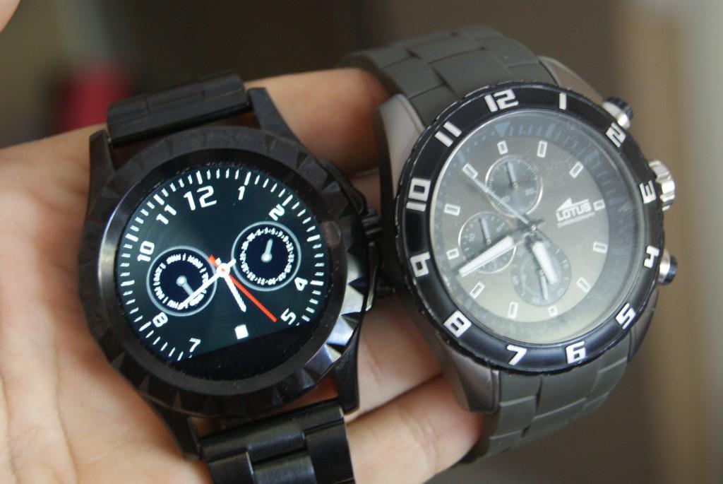 Gizlogic No.1 Sun S2 comparación reloj convencional
