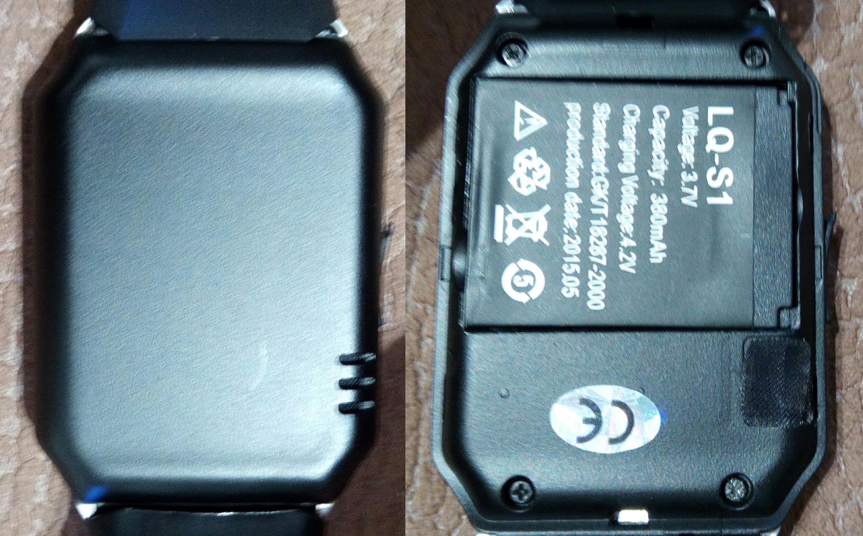 how to put battery in smart watch