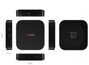 El Wintel es mucho más pequeño que una consola, ordenador o reproductor DVD.