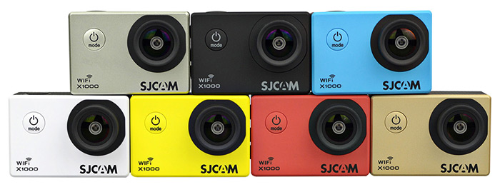 We can find the SJCAM X1000 up to 7 different colors.