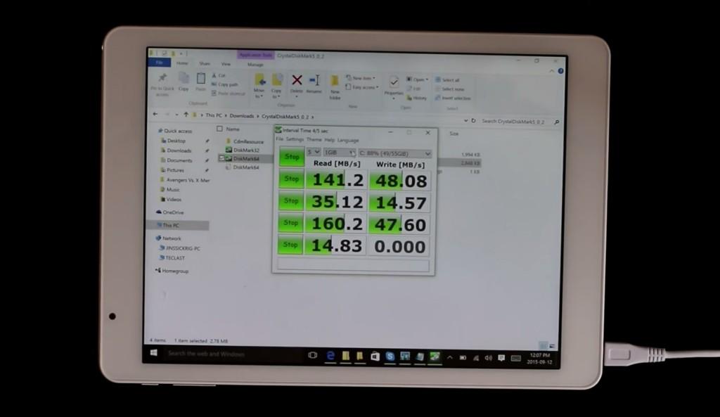 Gizlogic_Teclast X98Pro_rendimiento memoria flash