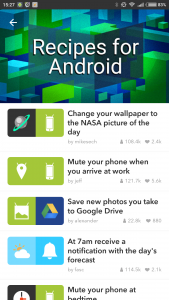 IFTTT tiene ciertas recetas exclusivas para el móvil.