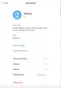 Telegram pone a nuestra disposición un Bot que hace el proceso de crear un Sticker Pack mucho más sencillo.