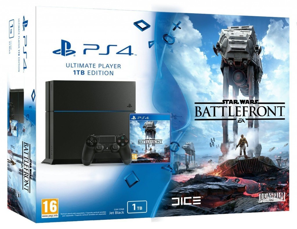 Pack Consola PS4 1 TB + Juego Star Wars: Battlefront