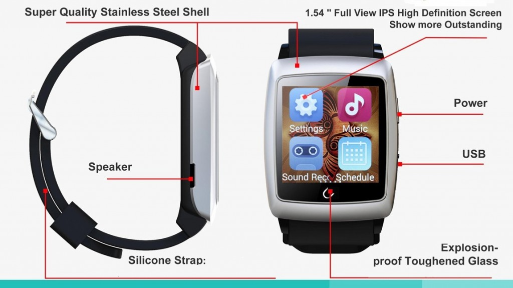 gizlogic-uwatch-u18-físico