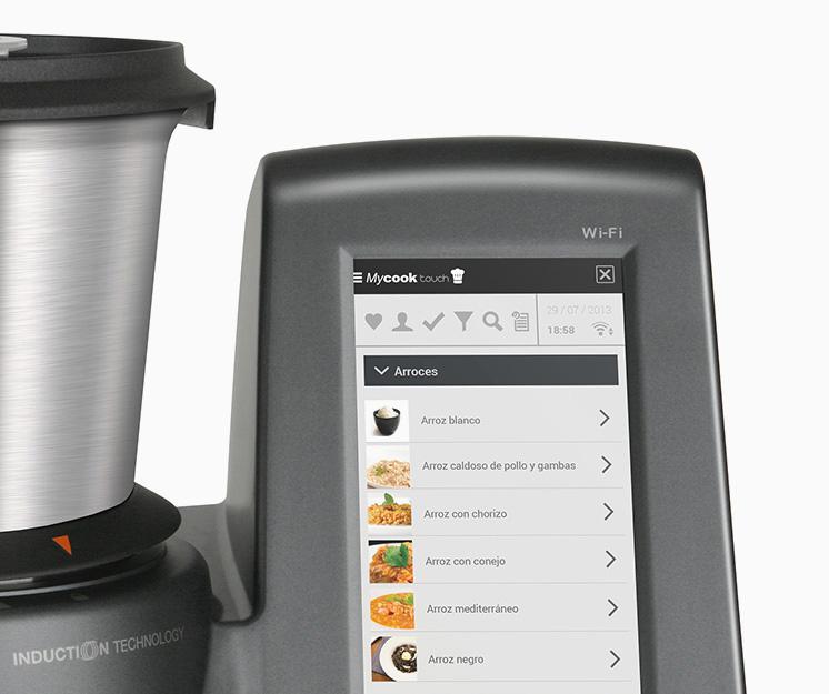 Robot de cocina inteligente my cook touch for Cocina inteligente