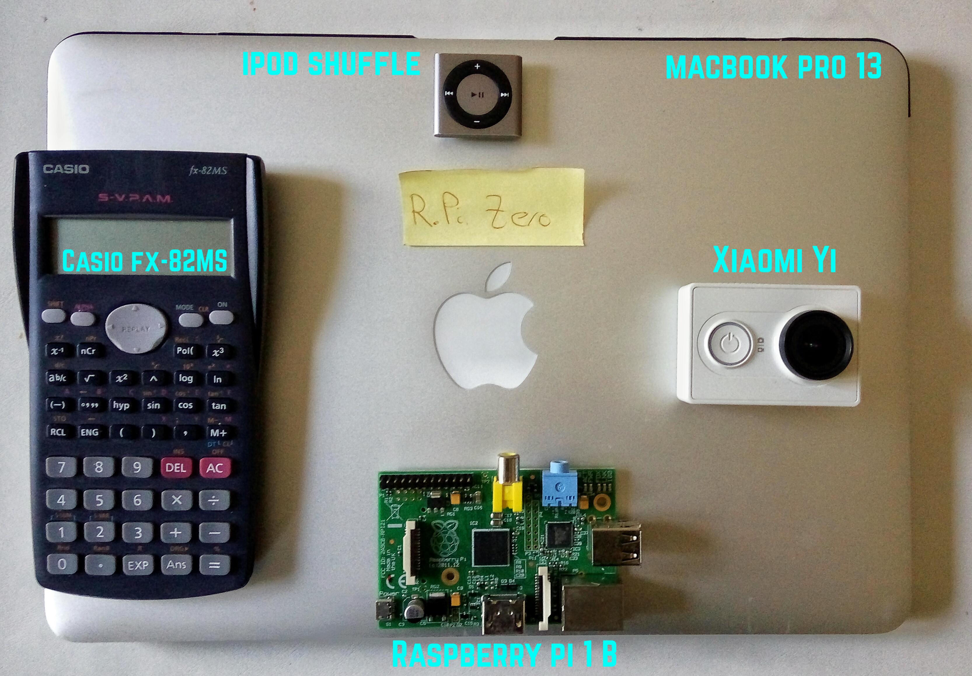 Como veis con esta pequeña comparación, la Raspberry Pi Zero es mucho más pequeña que su predecesora y que otros productos de electrónica habituales.