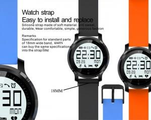 La pulsera del F68 es fácilmente intercambiable, haciendo fácil su personalización.