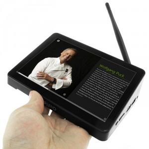 Pese a que es un All-in-one, el Pipo X8 tiene un tamaño reducido, igual al de una tablet de 7 pulgadas,.