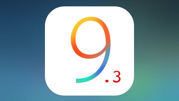 iOS 9.3 2