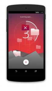 La app de Avast escanea nuestro teléfono en busca de posibles vulnerabilidades y amenzas.