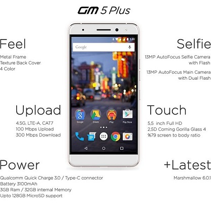 General Mobile 5 Plus