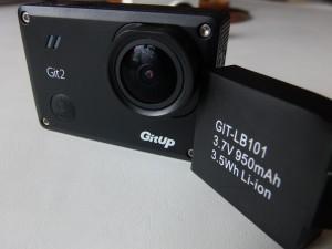 La batería de la Gitup Git2 es de menor capacidad que la de la Xiaomi Yi, pero eso no afecta a su autonomía.