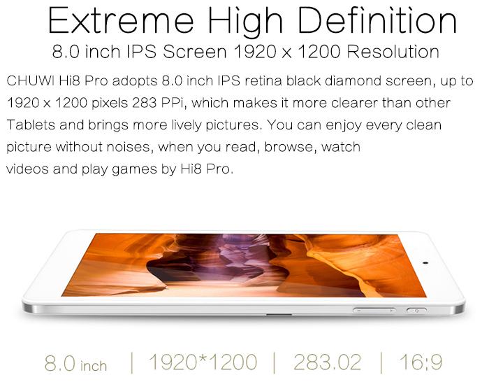 Chuwi Hi8 Pro es una potente tablet en dimensiones reducidas
