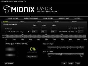 Tenemos el control completo del Mionix Castor gracias a su potente software.