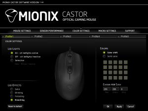 Tenemos más de 16 millones de colores para elegir para los LEDs del Mionix Castor.