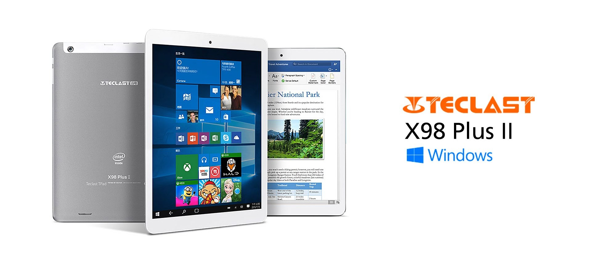 Teclast X98 PLus II widnows 10