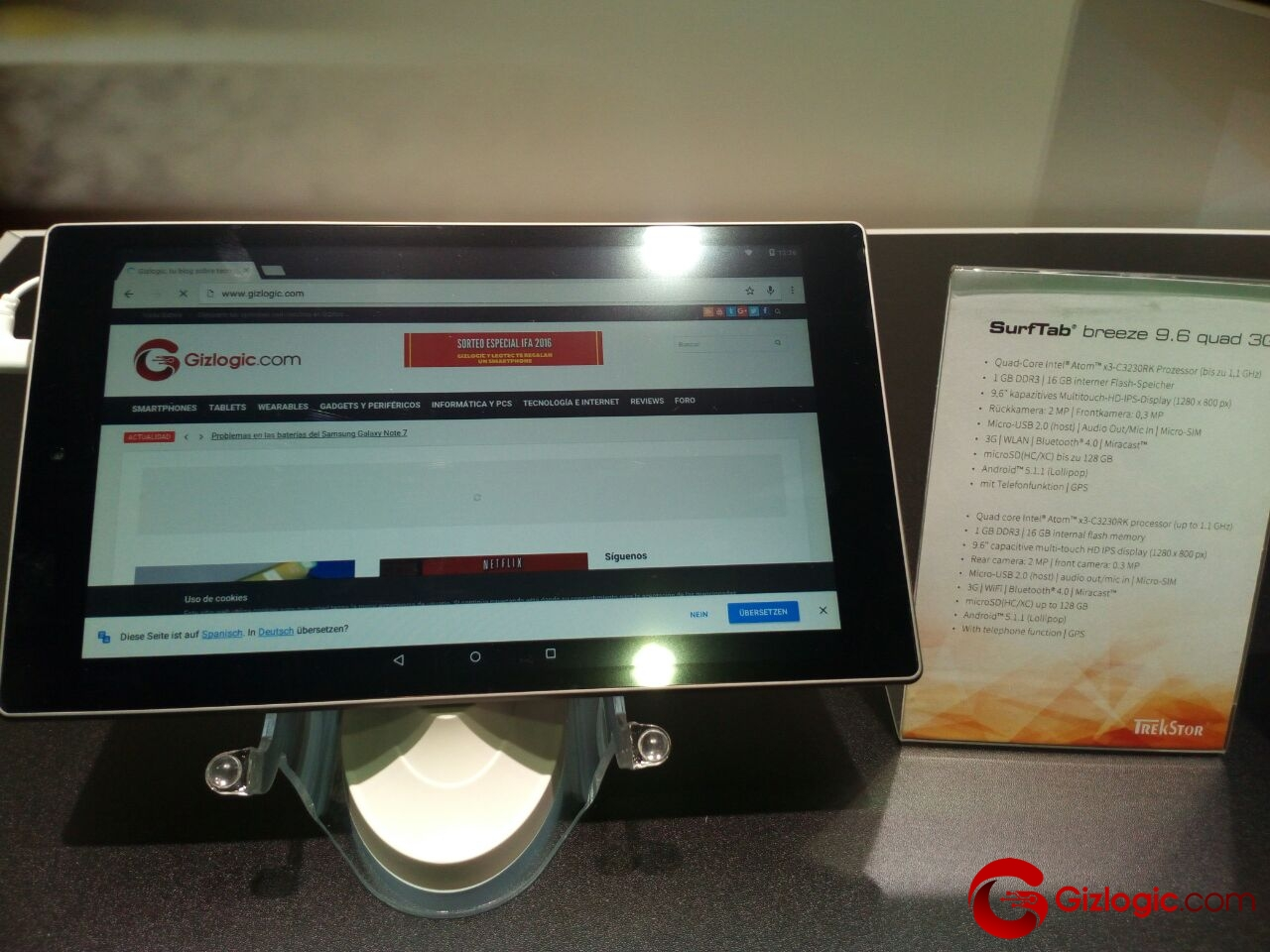 SurfTab Breeze 9.6 3G