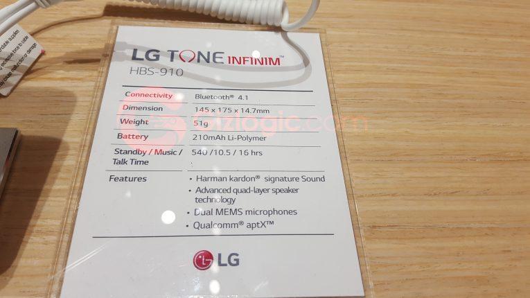 Especificaciones técnicas de los LG TONE INFINIM