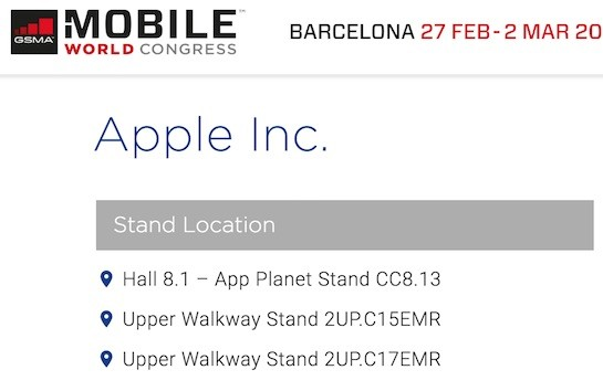 Apple en el MWC