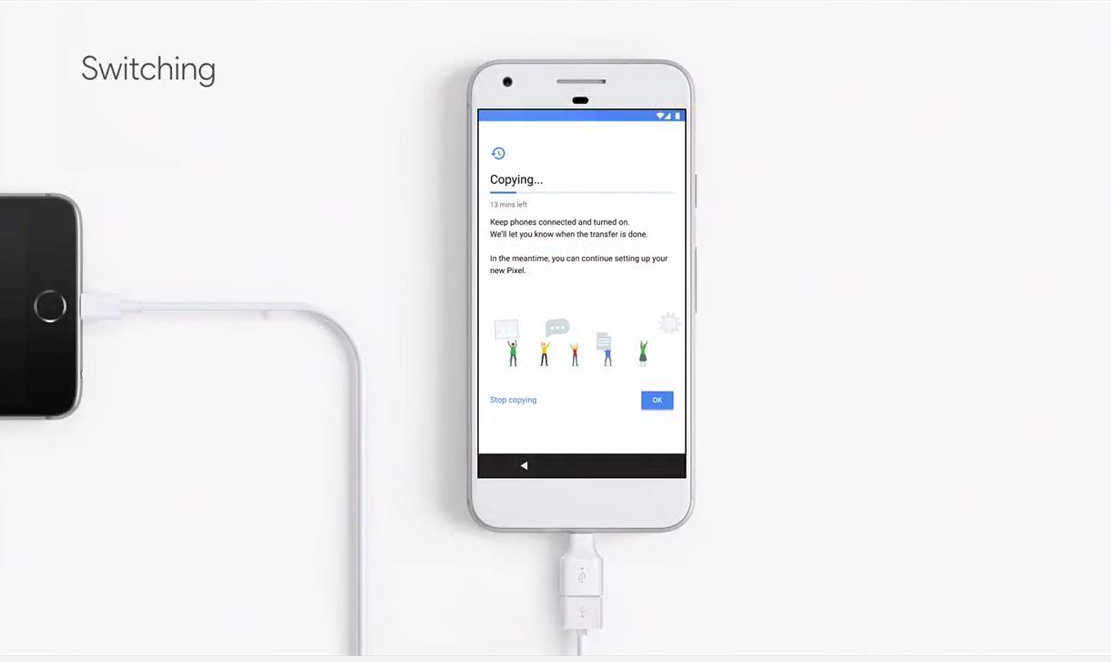 Google Pixel hace más fácil pasar de iPhone a Android.
