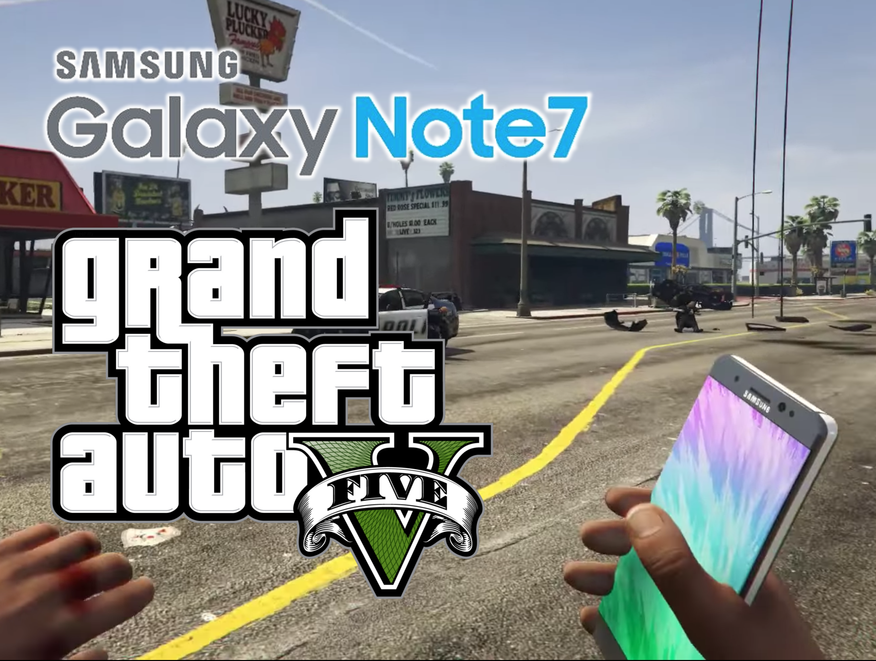 portada galaxy note 7 gta v