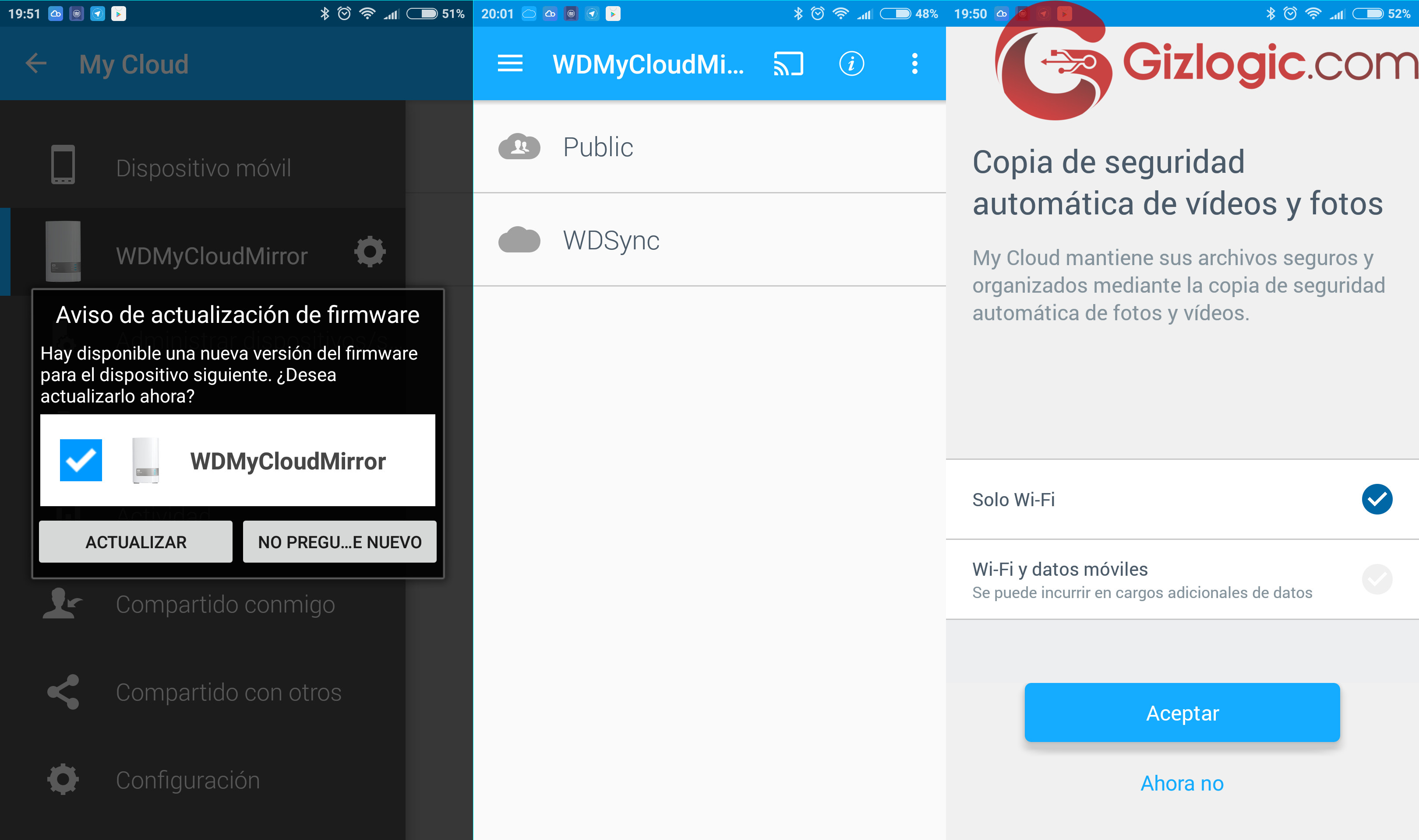 App movil WD My Cloud Mirror 8 TB