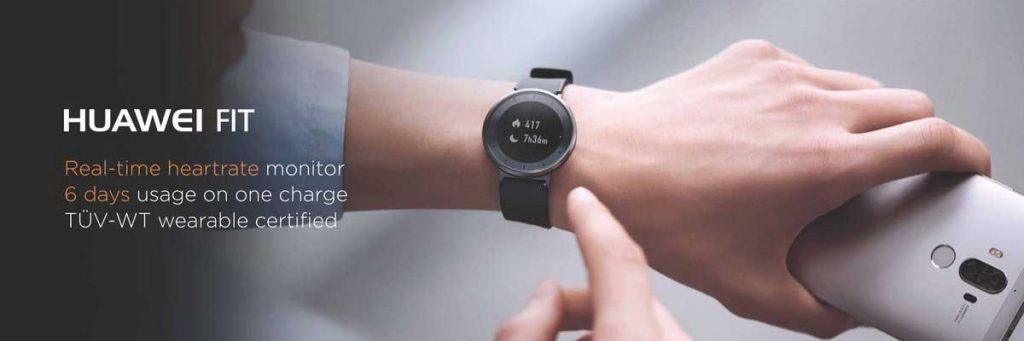 El reloj inteligente Huawei Fit tiene una autonomía de 6 días
