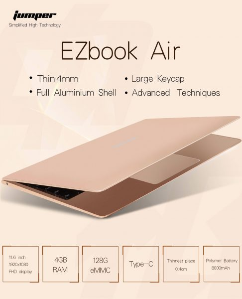 Jumper EZbook Air, siguen los clones del Macbook